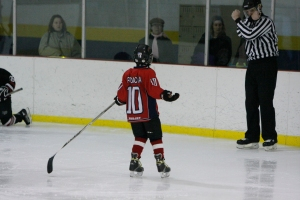Daniel got a penalty for interference when he was 10. We're still working on his issues with accountability.