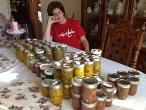 I canned eight cases of veggies in the summer of 2013.